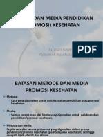 Metode Dan Media Pendidikan (Promosi) Kesehatan