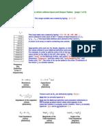 Mathcad Input Output Tables