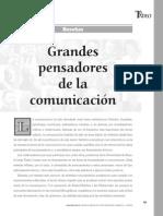 GRANDES PENSADORES DE LA COMUNICACIÓN