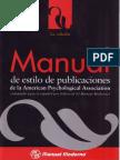 Varios Apa Manual de Estilo de Publicaciones