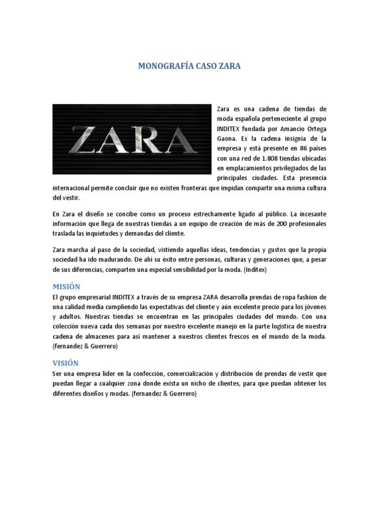 14cfe94ad Monografía Caso Zara