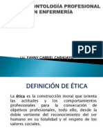 Presentaci+¦n Etica y Deontologia Profesional en Enfermeria