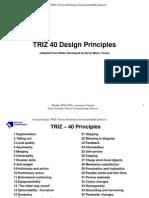 TRIZ 40 Principles