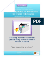 2014 Symposium for Research and Innovation in Education Downloadable Program