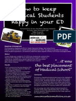 How to keep Medical Students happy in your Emergency Department - Conference Poster