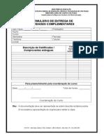 FORMULÁRIO DE ENTREGA DE HORAS ATIVIDADES