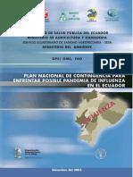 Ecuador Plan Nacional Pandemia Influenza
