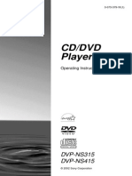Sony CD/DVD Player DVPNS315 User Guide