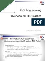 2013 Ev 3 Programming