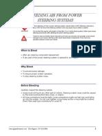 Power Steering Bleeding instructions