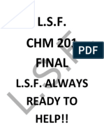 CHM 201 final