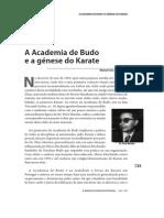 A Academia Budo e a génese do Karate