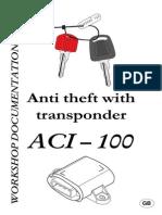 ACI 100 Anti Theft Transponder Manual
