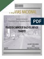 Ing_ Roberto Peralta - Peajes en caminos de bajo volumen de tránsito