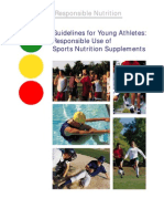 Guidlines for Young Athletes