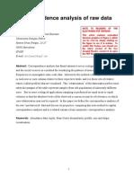 Correspondence Analysis of Raw Data