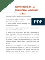 EL CONCILIO VATICANO II Y  Constitución Pastoral LA GAUDIUM ET SPES