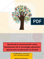 EA 0449 RCS Teorías de la comunicación, tecnología educativa y educación no formal - Presentación 01 de abril de 2014