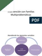 Familias Multiproblemáticas  y consumo de alcohol