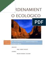 ORDENAMIENTO ECOLOGICO