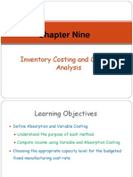 Chapter 9 - Inventory Costing and Capacity Analysis