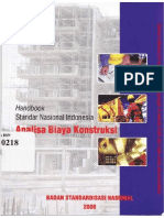 Handbook Sni Analisa Biaya Konstruksi