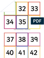 Number Flash Cards 31 60
