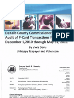 Internal Audit of P-Card transactions for the period December 1, 2010 through May 31, 2011: