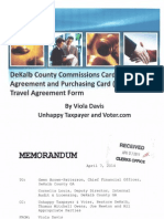 Commissioners Cardholder User's Agreement and Purchasing Card For Travel Agreement Form: