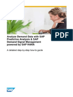 Analyze Demand Data With SAP Predictive Analysis SAP Demand Signal Management Powered by SAP HANA