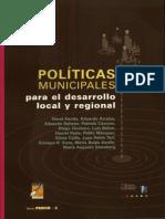 POLÍTICAS MUNICIPALES para el desarrollo local y regional