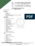 Temario Examen Profesional Mayo 2014