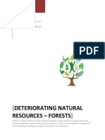 DETERIORATING NATURAL RESOURCES – FORESTS