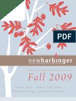 New Harbinger Catalogue Fall 2009