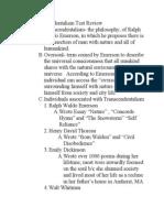 Transcendentalism Test Review 2012