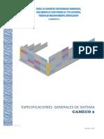 CAMECO2 especificaciones generales 2011