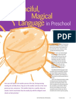 fancifullanguage in pre school