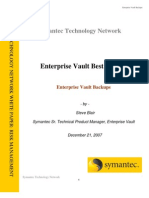 Enterprise Vault Backups
