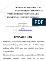 Persuasive Communication Factors That Influence University Students in Their Response to Hiv and Aids Prevention Campaign Message