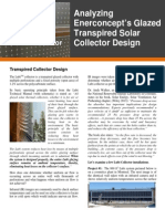 Analyzing Enerconcept's Glazed Transpired Solar Collector Design