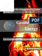 Geothermal Energy Global Management Plan