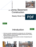 Two Storey Basement Construction