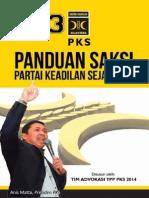 Panduan Operasional Saksi PKS 2014