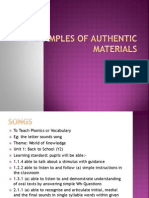 (Lt3101) 5 Examples of Authentic Materials
