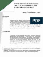 CONCEPÇÃO POLITÉCNICA DE ENSINO_ TEORIA E PRATICA NA FORMAÇÃO TÉCNINCA