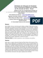 LIMITES E POSSIBILIDADES DA UTILIZAÇÃO DE ATIVIDADES EXPERIMENTAIS COMO INSTRUMENTOS DIDÁTICOS EM ESCOLAS PUBLICAS DO RIO GRANDE DO NORTE