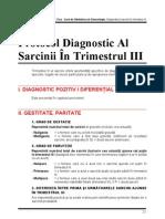 Cap.02 - Protocol Diagnostic Al Sarcinii in Trimestrul III