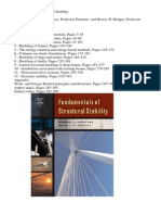 Fundamentals of Structural Stability