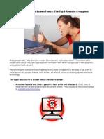 The Dreaded Computer Screen Freeze