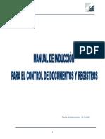 Manual Para El Control de Documentos y Registros